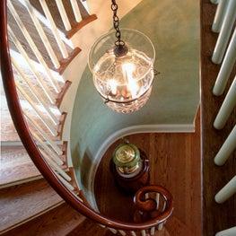 Elliptical Georgian Colonial Staircase