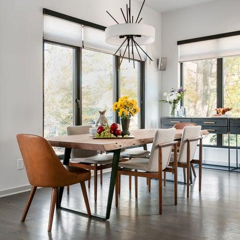 Mid century modern inspired dining room - Atlanta GA