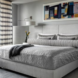 Ritz Carlton Residences, Boston; Custom upholstered bed