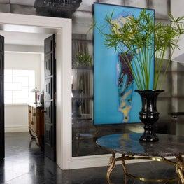 Kensington Apartment - Custom Mirrored Wall Paneling, Custom Paneled Doors