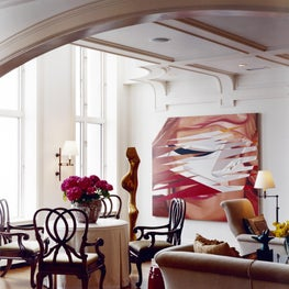 Penthouse Living Room Overlooking Lake Michigan