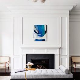 A Historic Boston Back Bay Brownstone Living Room