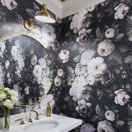 Sumptuous in the Suburbs | Powder Room