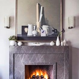 Mid City LA Living Room Fireplace Detail