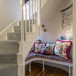 Beacon Hill Reading Nook with Decoratively Painted Walls