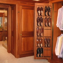Dressing rooms which are the ultimate sanctuary of style for gentlemen.