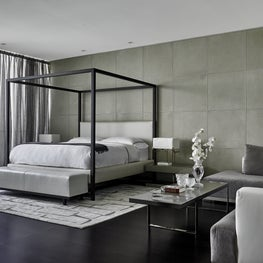 Modern Panama Art Collector's apartment / Master bedroom