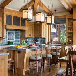 Martis Camp,Truckee, CA Craftsman details for a mountain kitchen