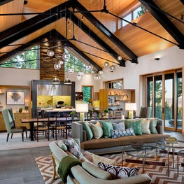 Martis Camp Residence Living and Dining Room