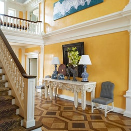 Yellow Venetian Plaster  Entry Hall.
