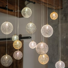 Custom Lighting in Industrial Rustic Space