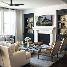 A french inspired living room