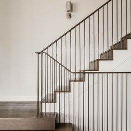 San Francisco Residence, Stair with custom walnut and metal details