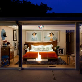 Night View of Master Bedroom - Hollywood Hills