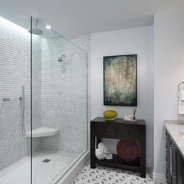 Urban Master Bathroom Large Luxurious Shower