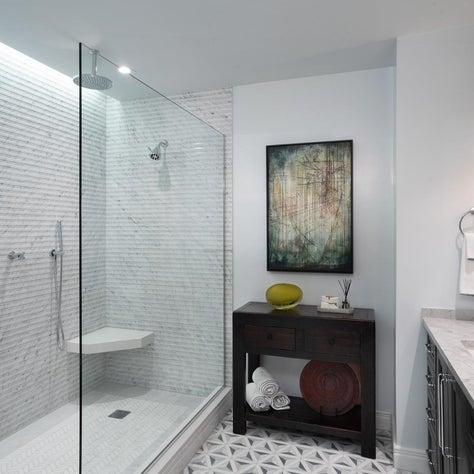 Urban Master Bathroom Large Luxurious Shower