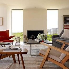 Contemporary Beach House - Living Room
