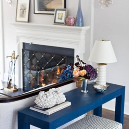 Living Room Detail: Blue Console