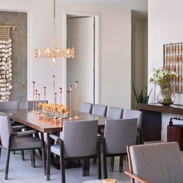 Dining Room with mix of Vintage and Modern pieces, Atherton