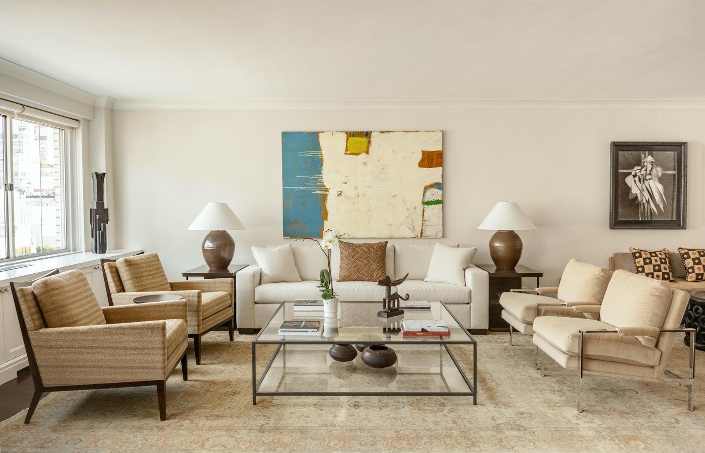 Madison Ave Duplex Living Room