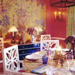 Red Dining Room with layers of Color