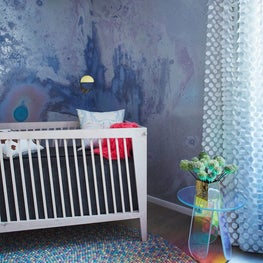 Tribeca Residence, Nursery Featuring Calico Wall Covering