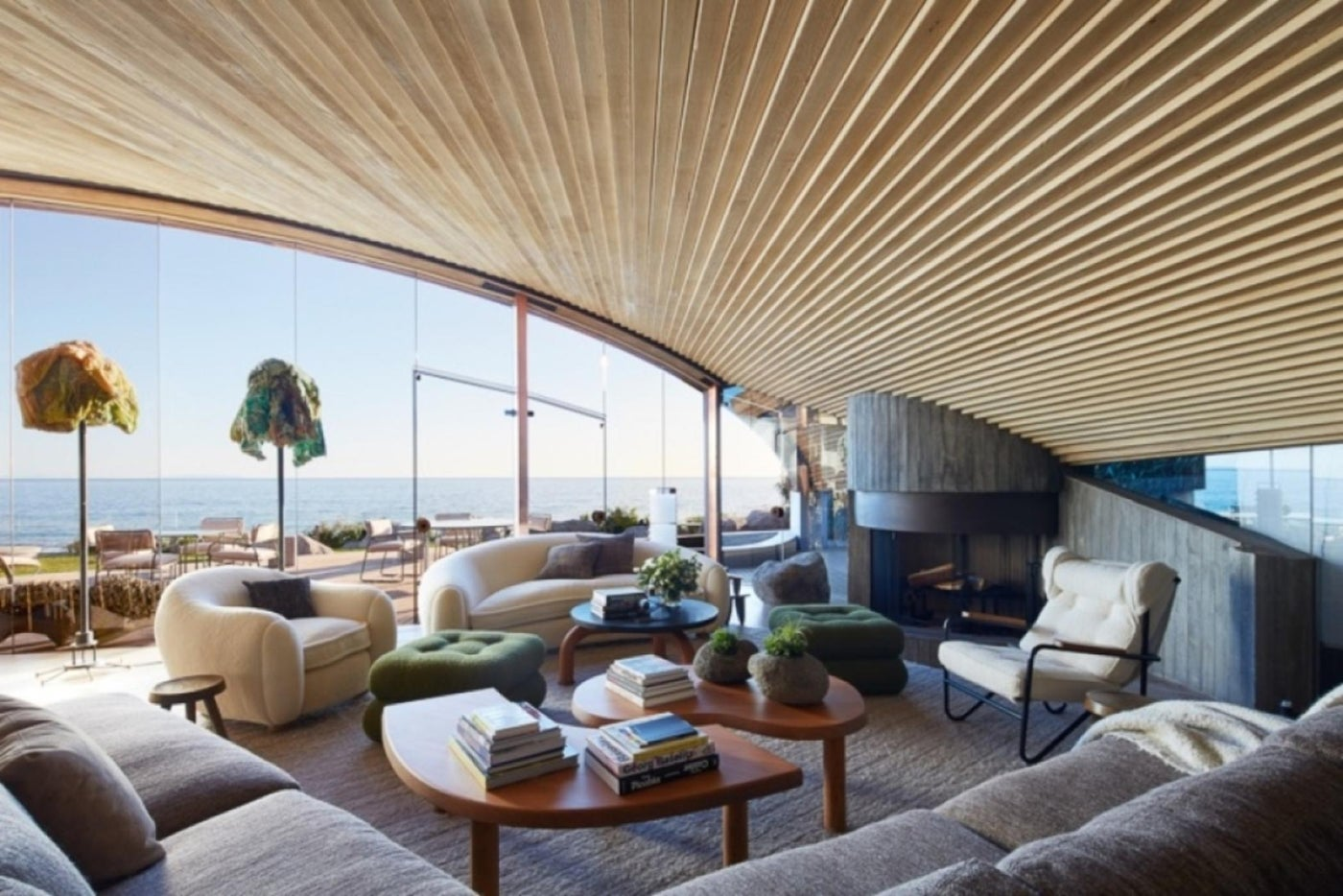 John Lautner Malibu Beach House - Living Room