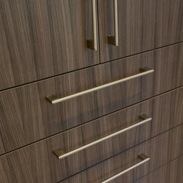 Italian Cleaf surfacing has wood grain appeal.