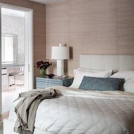 Bedroom featuring Blush Wallpaper