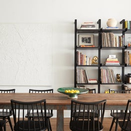 Dining Room of a converted storefront.