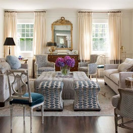 Formal Living Room Mixing Antique and Contemporary Furniture