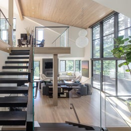 "Family Room + Dining, ""Modern in the Redwoods"" Mill Valley, California"
