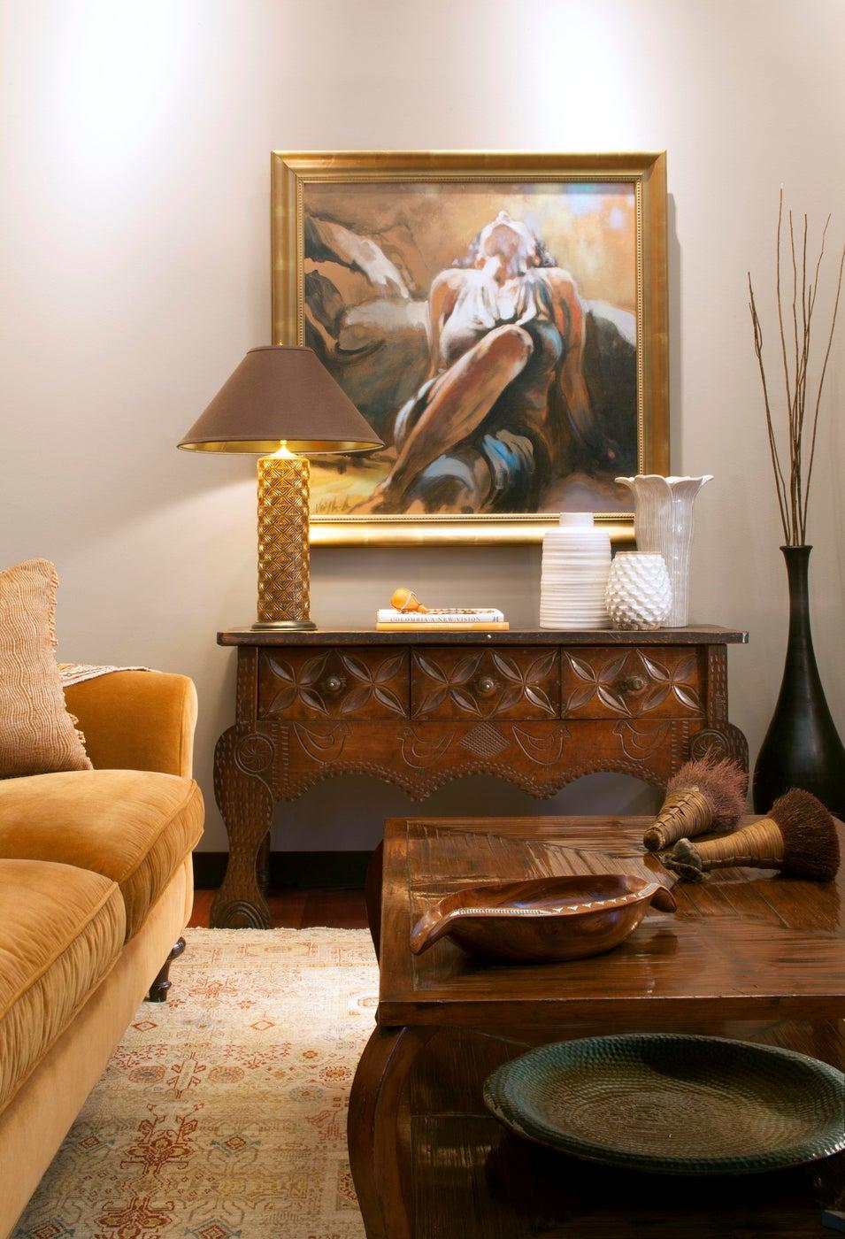 Rustic Living Room Space