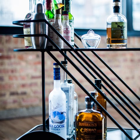 Chicago West Loop - Dining Room/Bar Cart Detail - #AboutLastNight