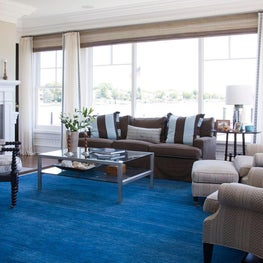 A royal blue rug inspired by the sea.