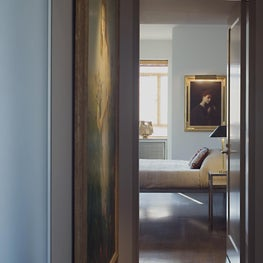 A minimal Desiron Bed in a Central Park West Penthouse