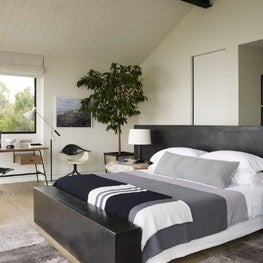 Large contemporary master bedroom