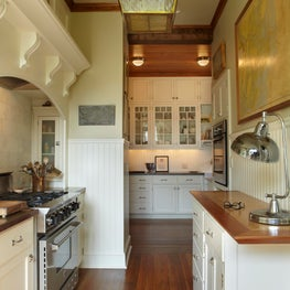 A Kitchen in a converted stable in the Hamptons