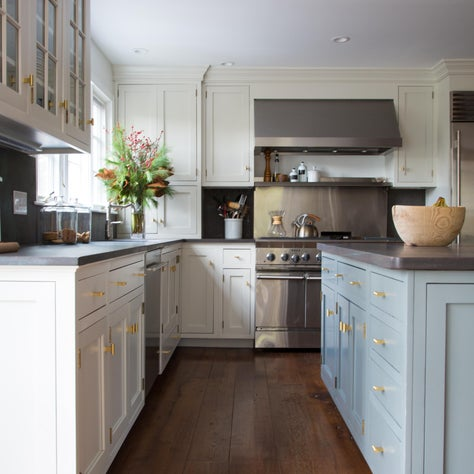 Modern Farmhouse Two Tone Kitchen