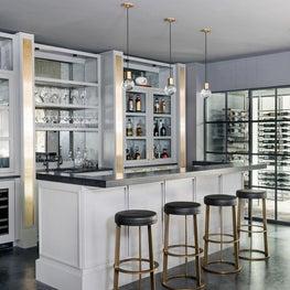 Oakton Terrace - Media Room Bar