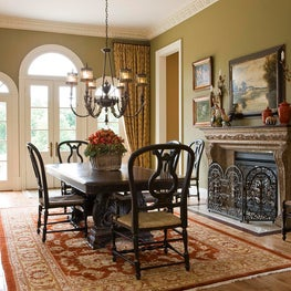 The Stark Indian rug adds casual warmth to the breakfast room.