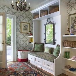 Custom Designed Cabinetry in Mudroom by Diane Burgoyne Interiors