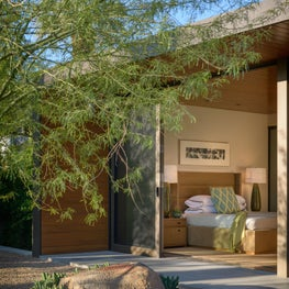 Palm Springs Residence Bedroom Patio