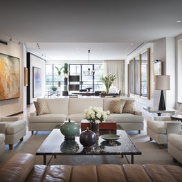 Living Room of Fifth Avenue Penthouse.