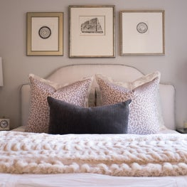 Guest Bed with a soft neutral palette