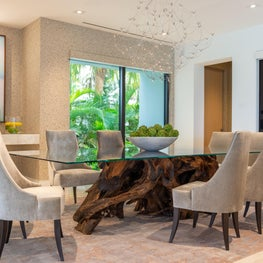 Contemporary Oceanfront Miami Home: All About Texture in This Dining Room