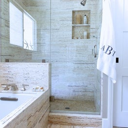 Custom master shower and tub