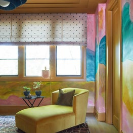 Ochre with Blush Reading Room