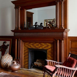 Harlem Townhouse - Back Sitting Room Fireplace
