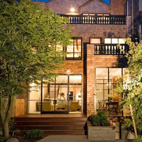 Pacific Heights Home with Cedar Shingle Facade & Steel Windows